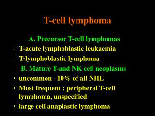 T-cell lymphoma