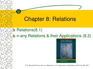 Chapter 8: Relations
