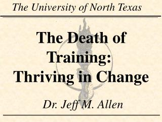 The Death of Training:  Thriving in Change