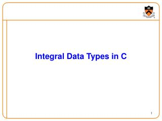 Integral Data Types in C