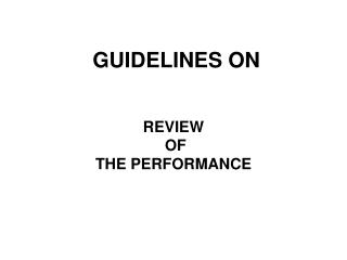 GUIDELINES ON