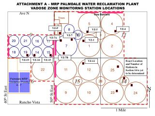ATTACHMENT A – MRP PALMDALE WATER RECLAMATION PLANT VADOSE ZONE MONITORNG STATION LOCATIONS