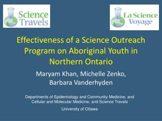 Effectiveness of a Science Outreach Program on Aboriginal Youth in Northern Ontario