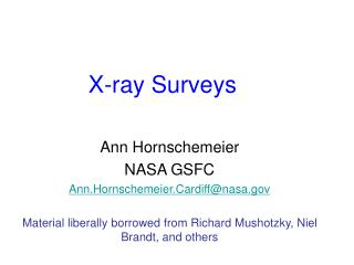 X-ray Surveys