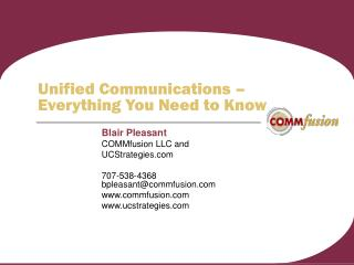 Unified Communications    Everything You Need to Know