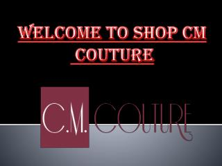 Short Clip on Online clothing store by ShopCM couture