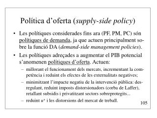 Política d'oferta ( supply-side policy )