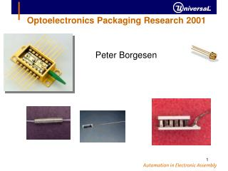 Optoelectronics Packaging Research 2001
