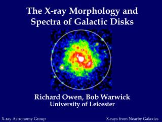 The X-ray Morphology and Spectra of Galactic Disks