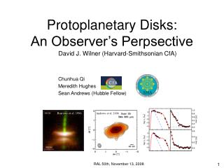 Protoplanetary Disks:            An Observer's Perpsective
