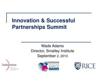 Innovation & Successful Partnerships Summit