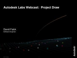 Autodesk Labs Webcast:  Project Draw