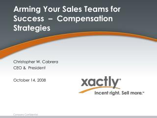 Arming Your Sales Teams for Success     Compensation Strategies