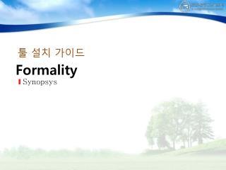 Formality