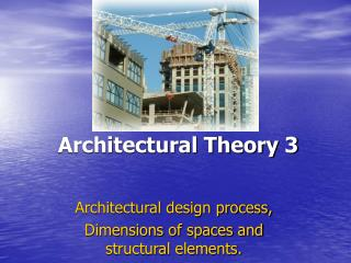 Architectural Theory 3