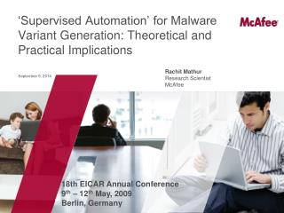 'Supervised Automation' for Malware Variant Generation: Theoretical and Practical Implications
