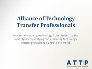 Alliance of Technology Transfer Professionals