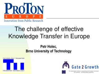 The challenge of effective Knowledge Transfer in Europe