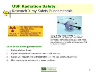 USF Radiation Safety Research X-ray Safety Fundamentals