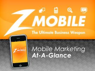 Mobile Marketing  At-A-Glance