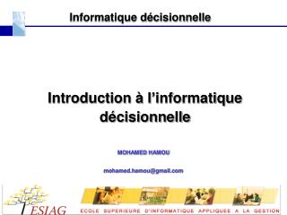Informatique décisionnelle