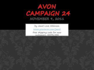 Avon  campaign 24 November 9, 2011