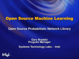 Open Source Machine Learning