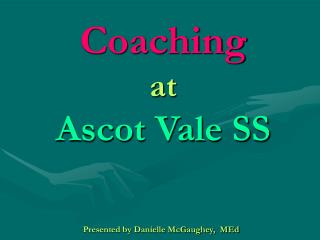 Coaching at Ascot Vale SS