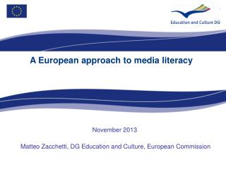 A European approach to media literacy