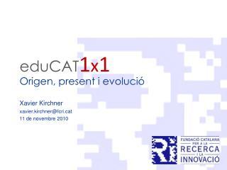 eduCA T 1 x 1 Origen, present i evolució