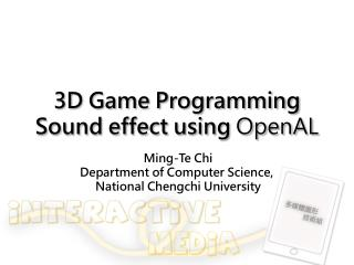3D Game Programming Sound effect using  OpenAL
