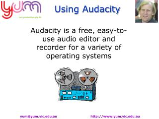 Audacity is a free, easy-to-use audio editor and recorder for a variety of operating systems