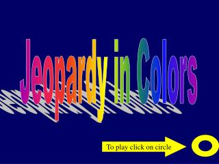 Jeopardy in Colors