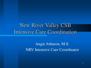 New River Valley CSB Intensive Care Coordination