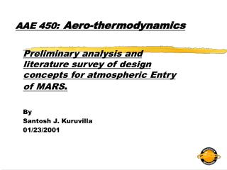 AAE 450: Aero-thermodynamics