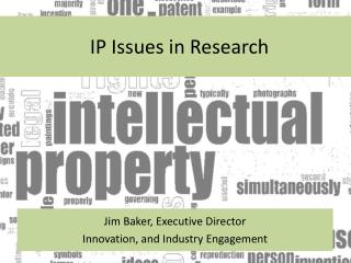 IP Issues in Research