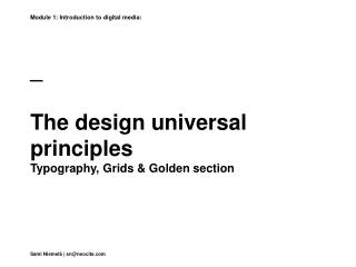 _ The design universal principles Typography, Grids & Golden section