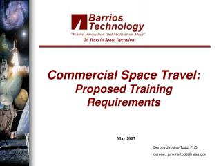 Commercial Space Travel: Proposed Training Requirements