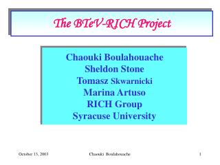 The BTeV-RICH Project