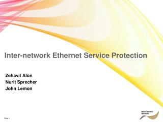 Inter-network Ethernet Service Protection
