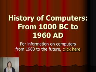 History of Computers: From 1000 BC to 1960 AD