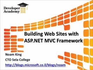 Building Web Sites with ASP.NET MVC Framework