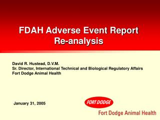 FDAH Adverse Event Report Re-analysis