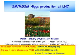 SM/MSSM Higgs production at LHC
