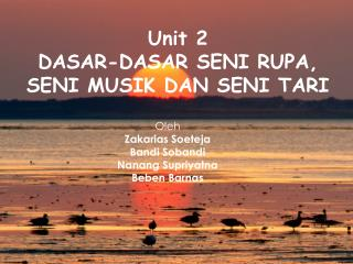 Seni tari dan Drama part two