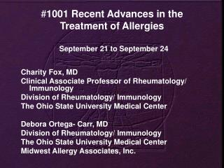 # 1001 Recent Advances in the Treatment of Allergies