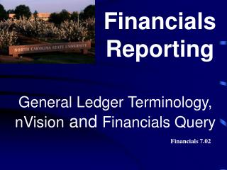 General Ledger Terminology, nVision and Financials Query