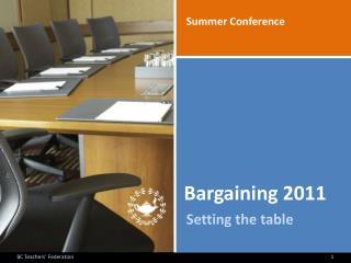Bargaining 2011