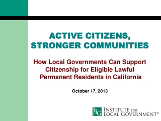 Assessing Our Local Economy: Marin County