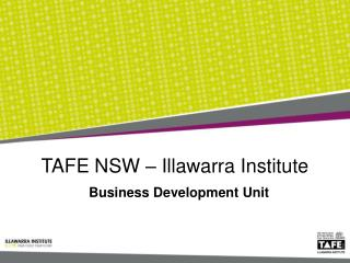 TAFE NSW – Illawarra Institute